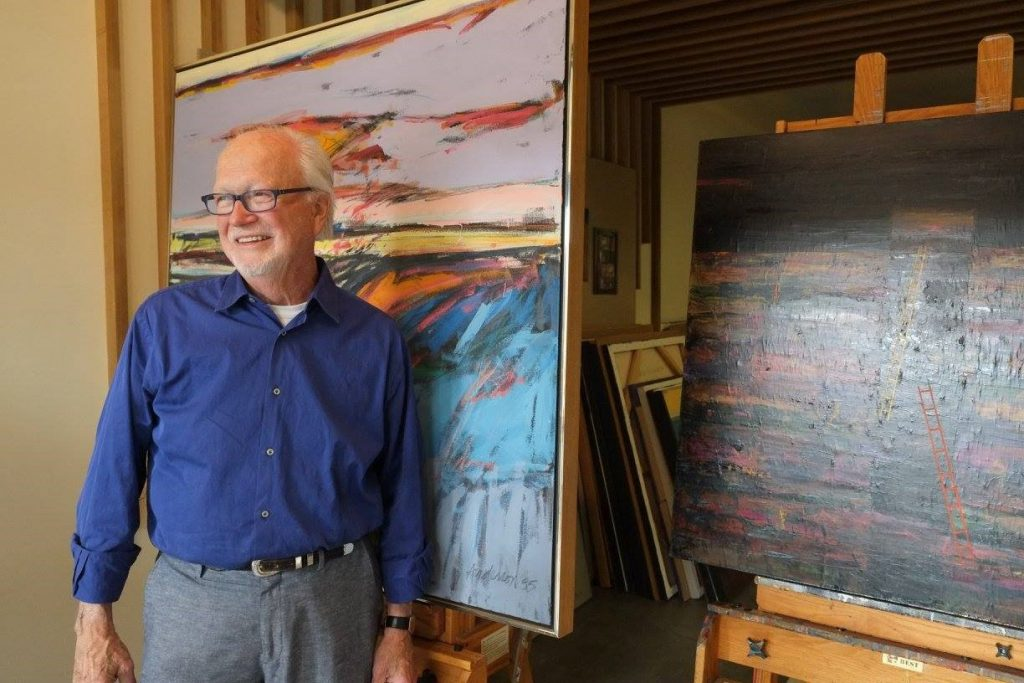 Gary Anderson in his studio, Seattle WA