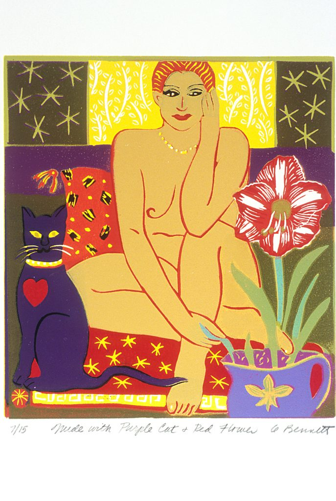 Germaine Bennett, Nude with Purple Cat