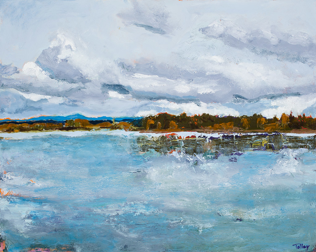 Joyce Tolley, Columbia River, Sauvie Island, oil