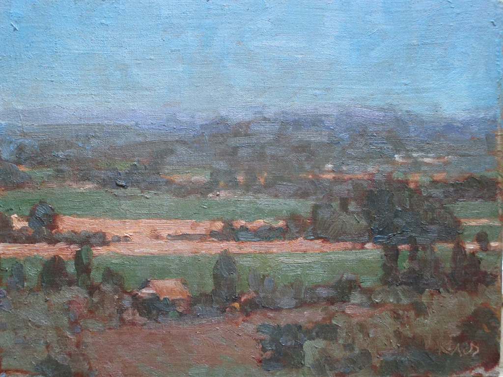 Ken Klos, Willamette Valley - Midsummer, oil on linen