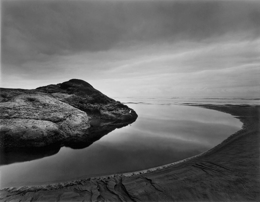 Loren Nelson, Tidepool, Hug Point, Oregon, silver gelatin print
