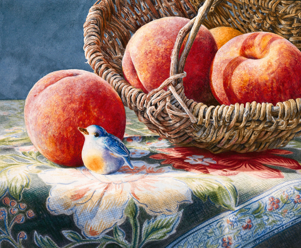 Patricia Schmidt, Bluebird and Peaches