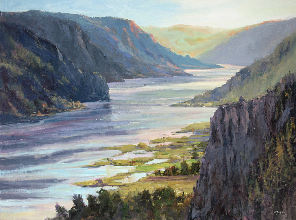 Paul Zegers, Sunrise Crown Point, oil