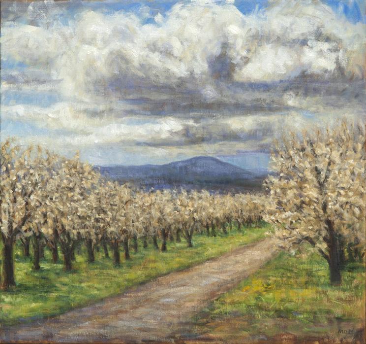 Peggie Moje,Hood River Orchards Sky II