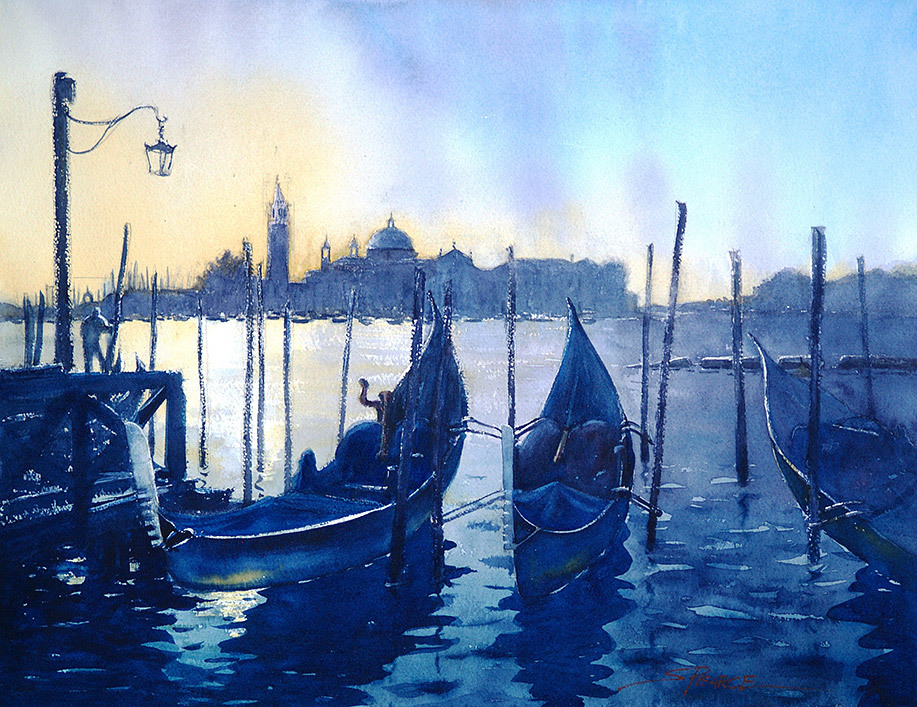 Sandra Pearce, Gondolas at Sunrise
