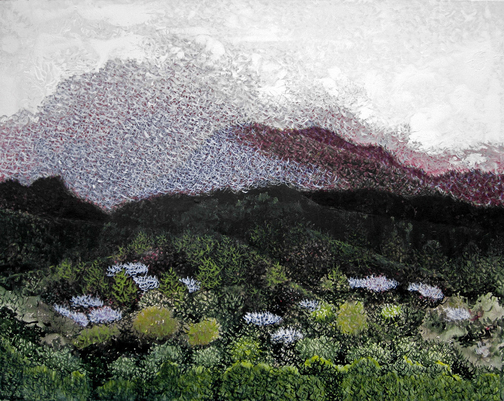 Susan Comerford, Moon of the Wild Plum, acrylic on canvas