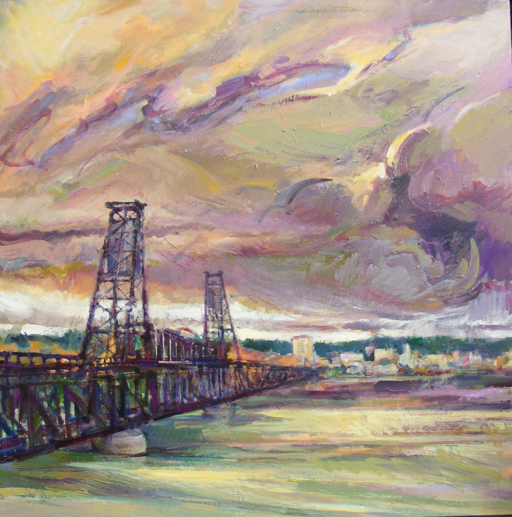 Jean W Thomas - Coming Storm, Steel Bridge