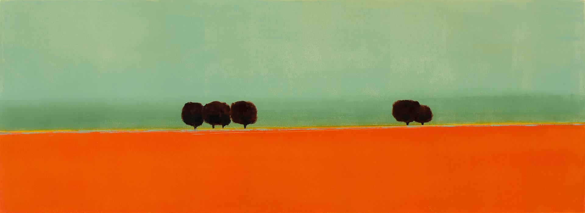 Annie Meyer, 2017 Orange French Landscape 2