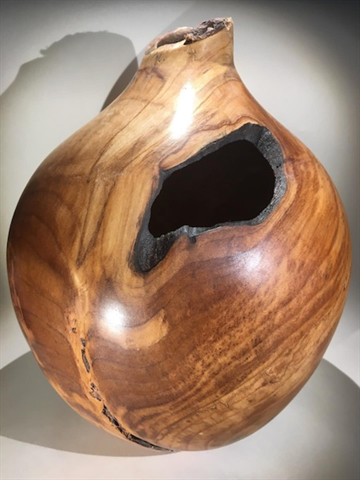 Max McBurnett, Maple Root Hollow Form with Natural Edge