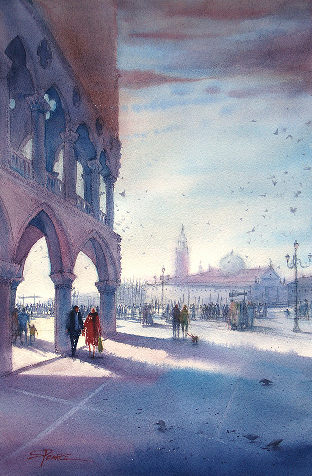 Sandra Pearce, Early Morning, Piazza San Marco