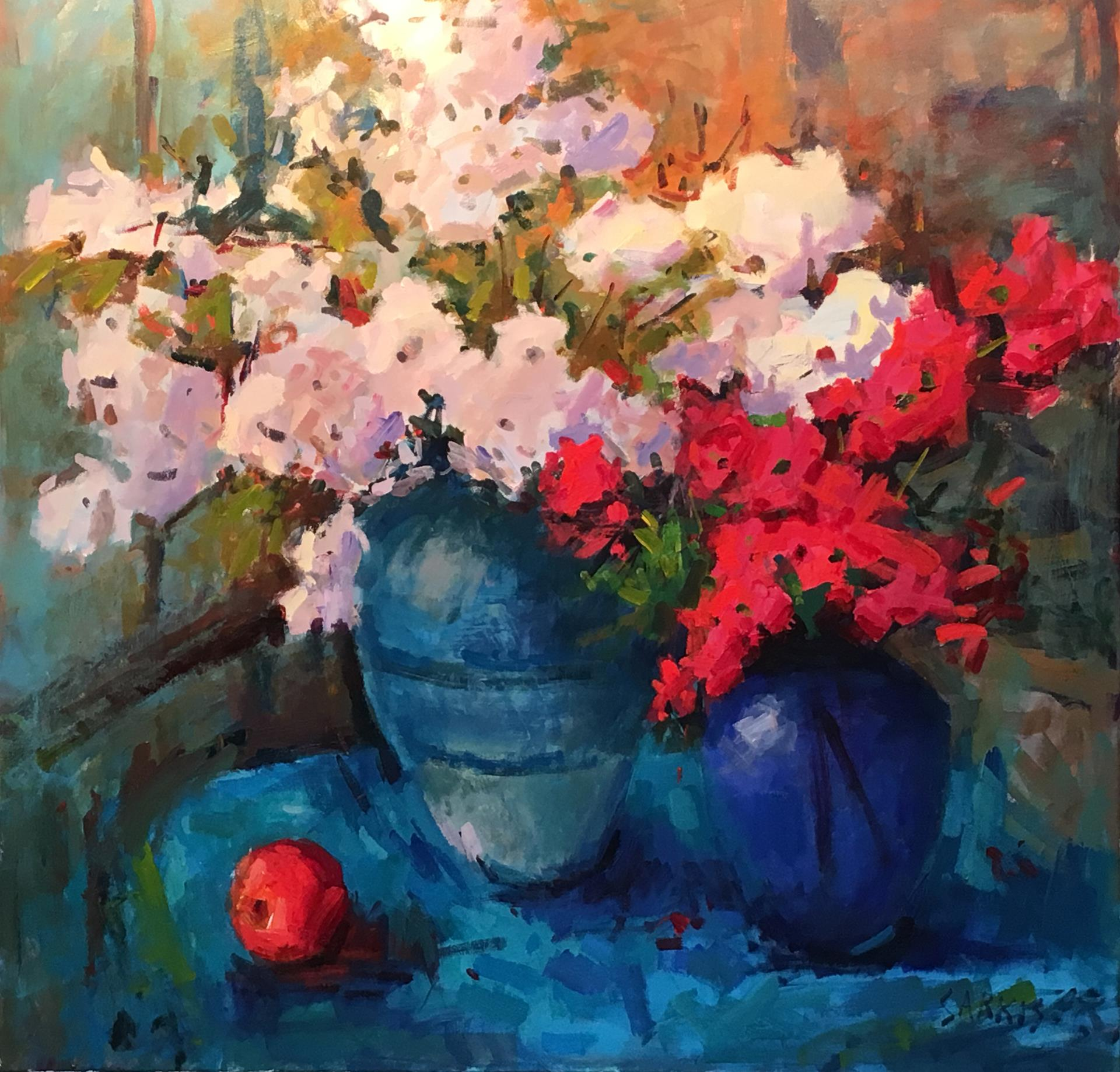 Sarkis Antikajian, Cherry Blossoms and Azaleas