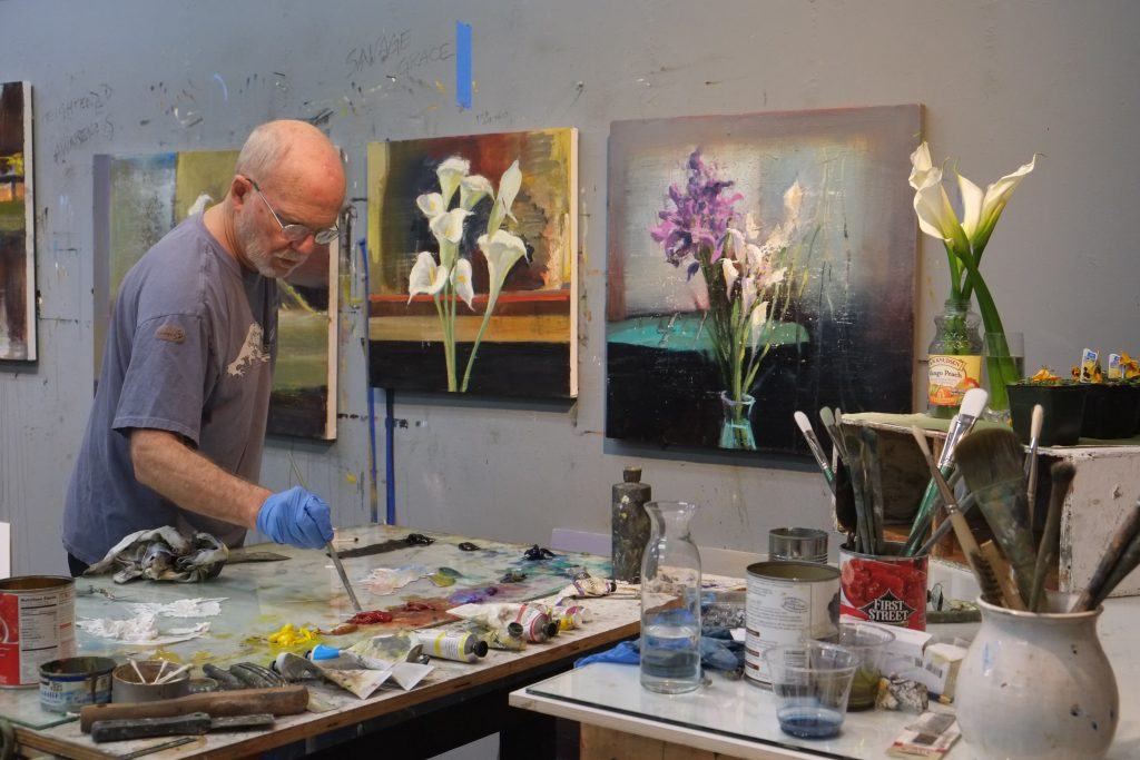 Artist William Park in his studio