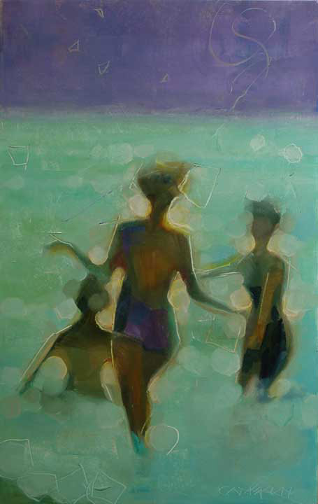 Brian Cameron, Midnight Swim, oil