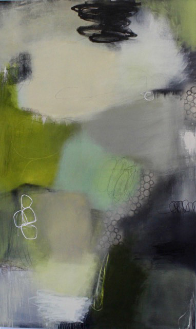 Candace Primack, Cloudy with a Chance of Rain II, mixed media