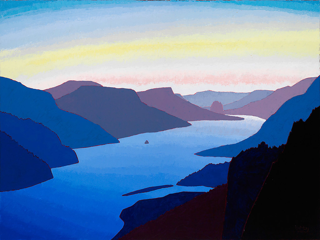 Christopher Bibby, Crown Point & Beacon Rock, oil and wax