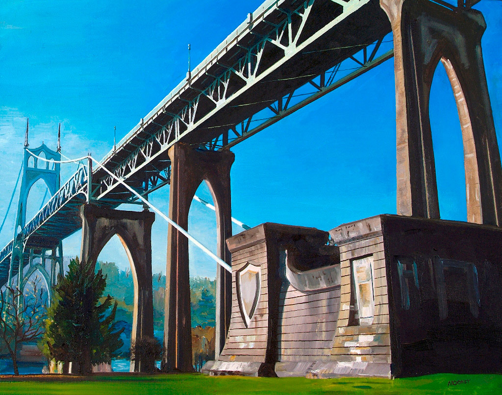 Christopher Mooney, Cathedral Park, oil