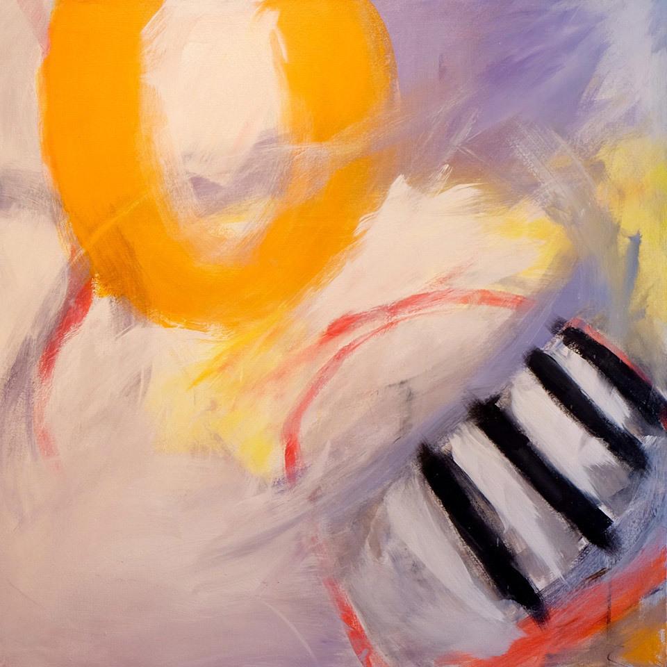 Clement Lee, Saffron Sky, acrylic