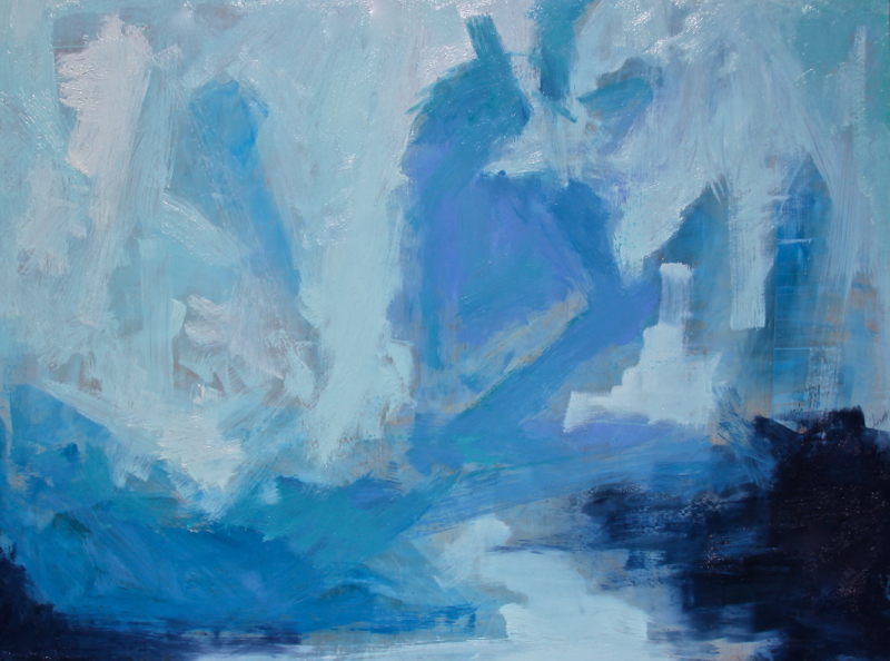 Jamee Linton, Mood in Blue, oil