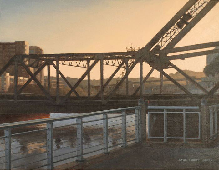 Kevin Farrell, 3rd Street Bridge, oil