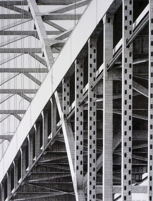 Kevin Farrell, Fremont Bridge #2, Ink