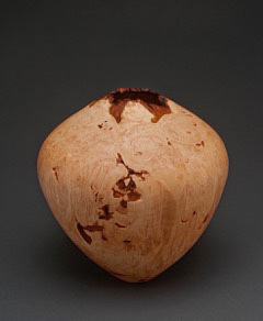 Max McBurnett, Maple Burl Hollow Form with Natural Edge