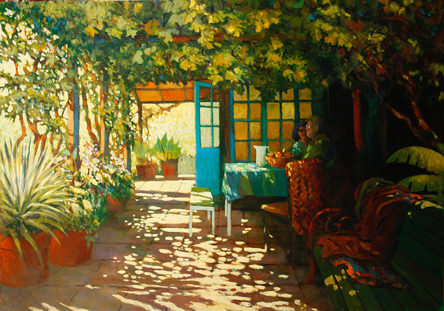 Michael Schlicting, Summer Breakfast, acrylic
