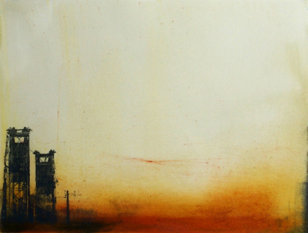 Molly Cliff Hilts, Steel Bridge 2, encaustic