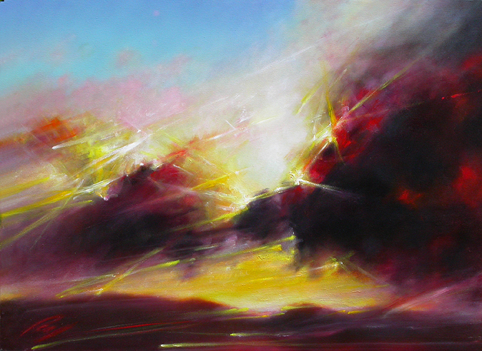 Paul Joseph Lucas, Dancing with Wind and Light, oil