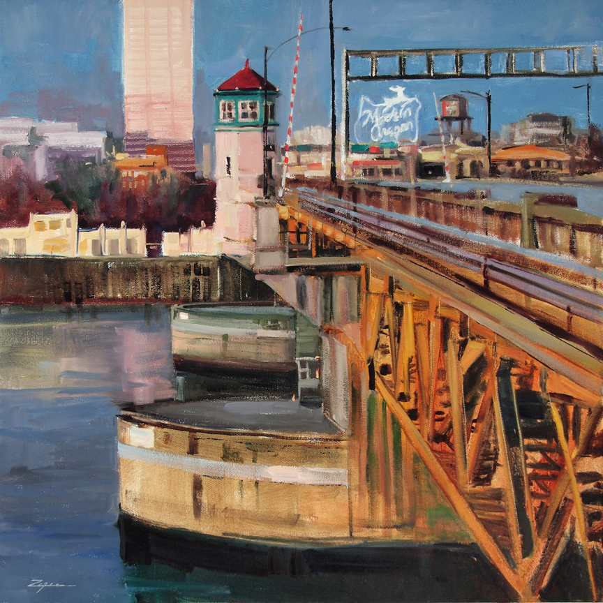 Paul Zegers, Burnside Bridge II, oil