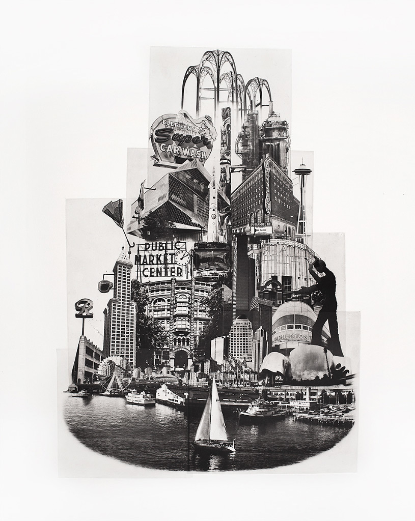 Beth Kerschen, Tower of Seattle, photo etching