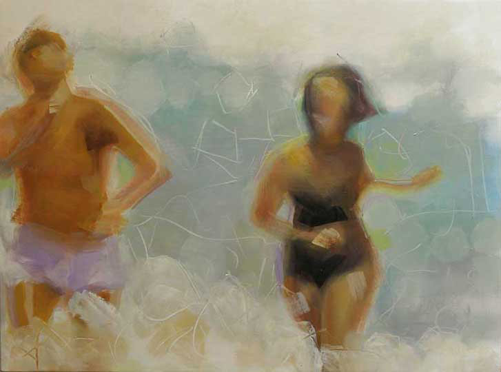 Brian Cameron, 50's Splash, oil