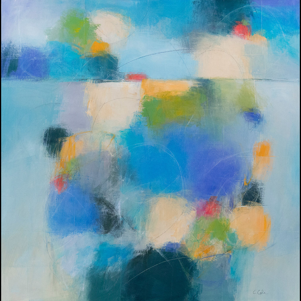 Carolyn Cole, Blue (121602), mixed media