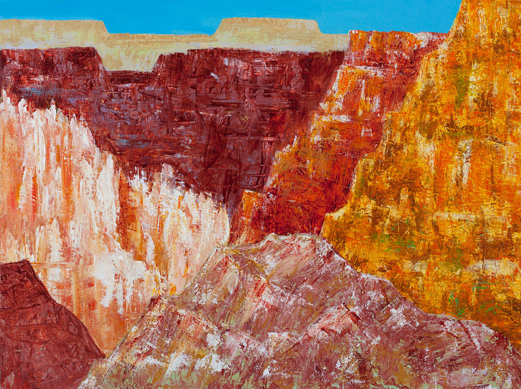 Eileen Kane, Remembering Bryce Canyon, acrylic on canvas