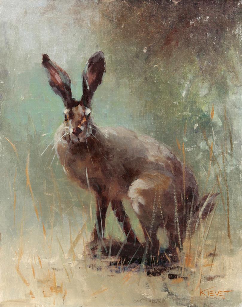 Fran Kievet, Wild Hare, oil