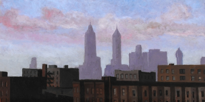 Guy Gilray, Morning in Manhatten, oil