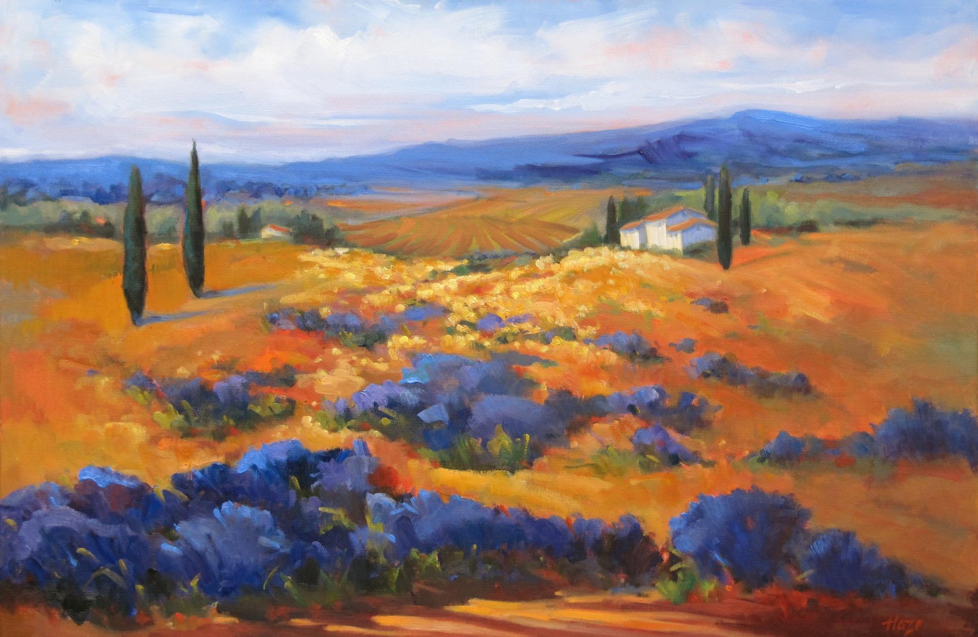 Hazel Schlesinger, Provencal Calm, oil
