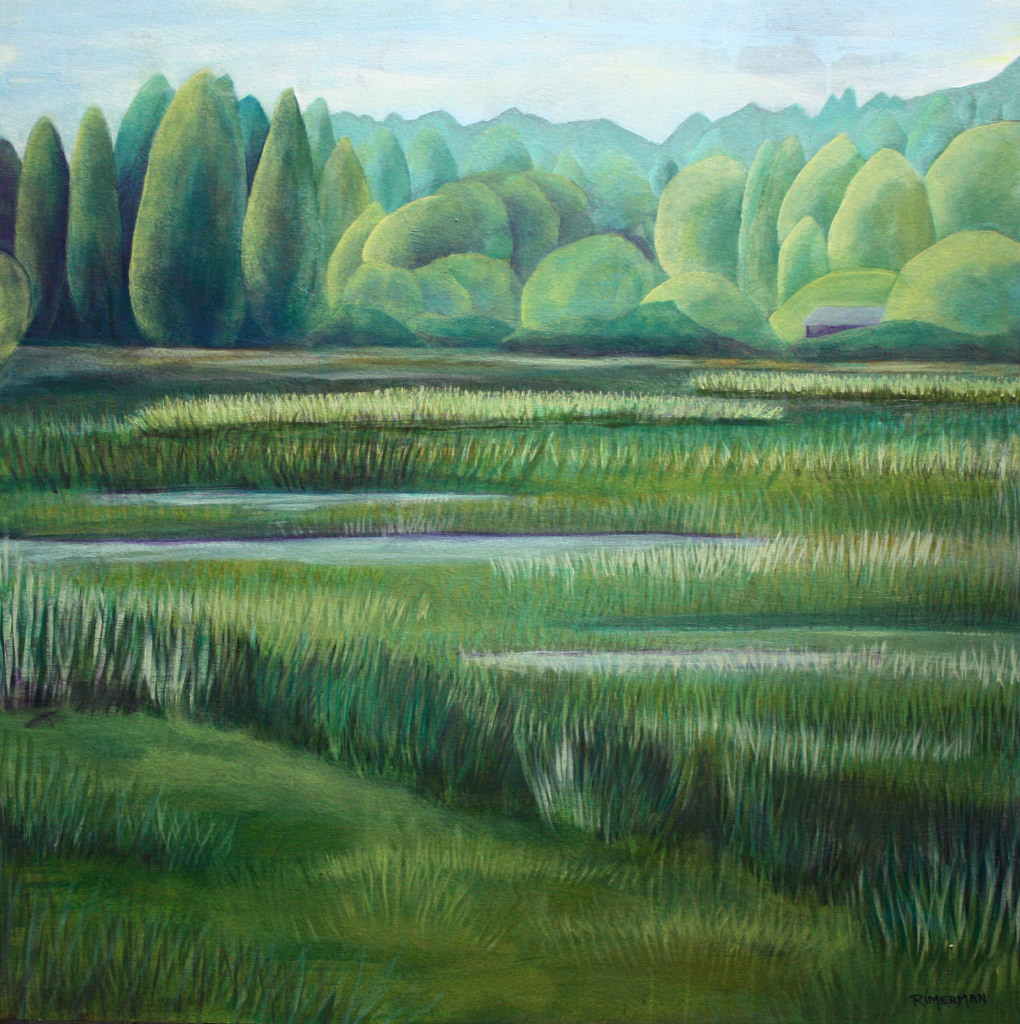 Jan Rimerman, Nisqually National Wildlife Refuge II, mixed media
