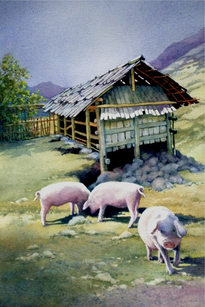 LaVonne Tarbox-Crone, Three Pigs