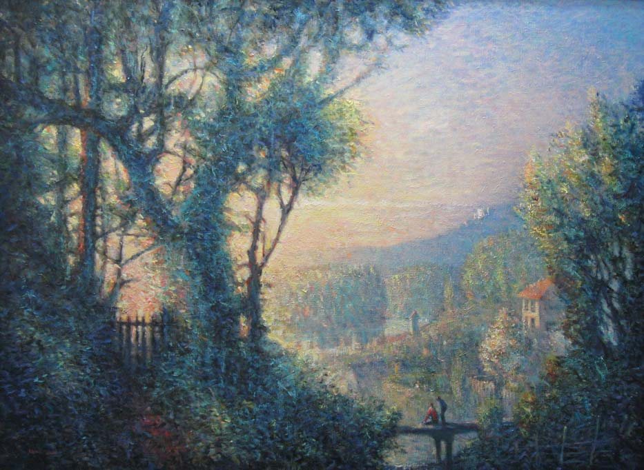 Leland John, From Singer Hill to Marquam Hill, oil on linen