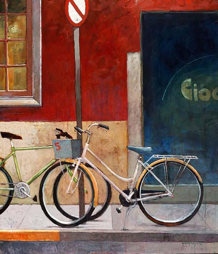 Michael Schlicting, Roman Geometry, acrylic