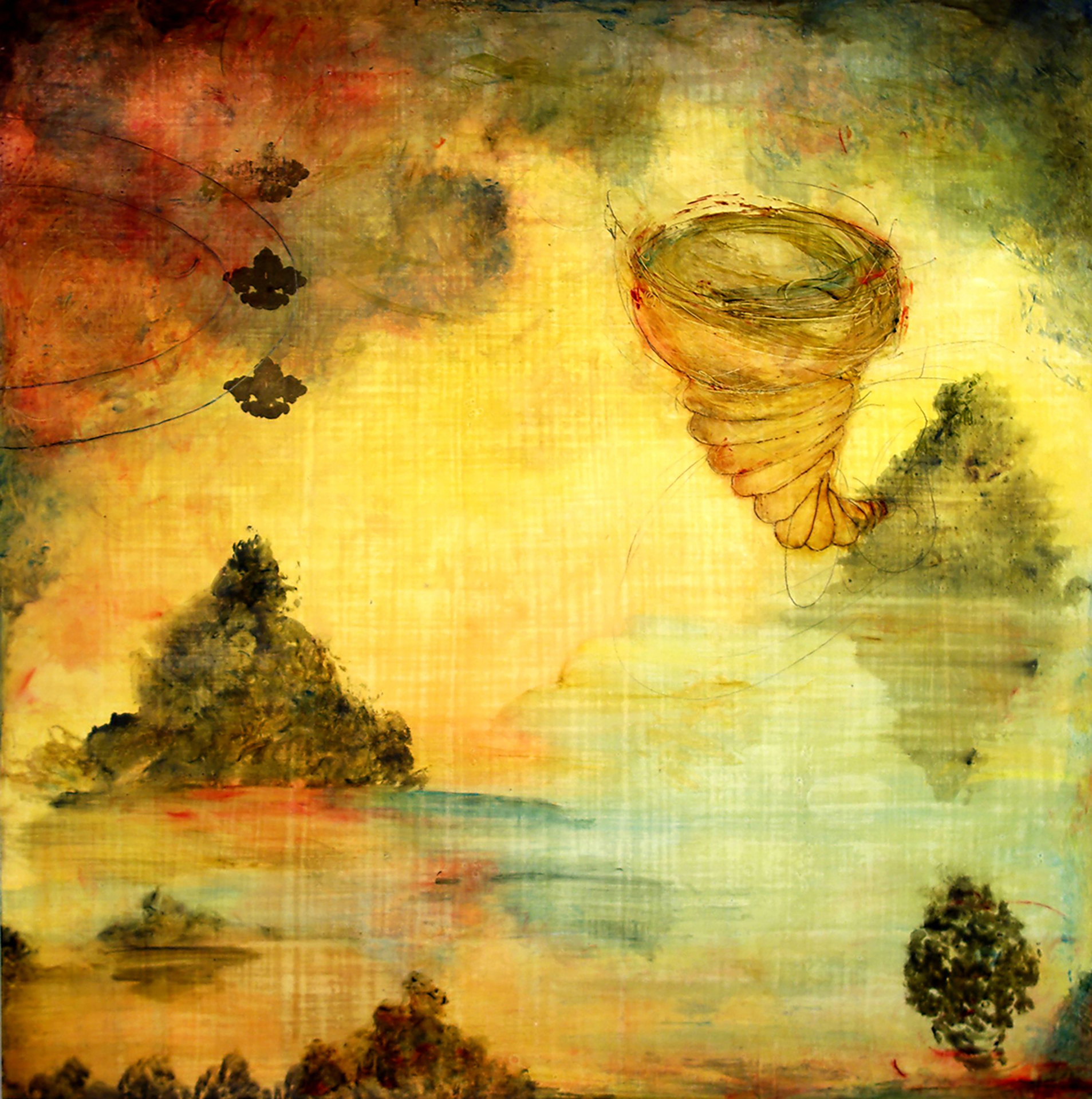 Molly Cliff Hilts, Laden & Bare, encaustic