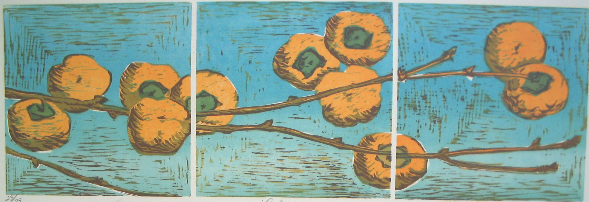Renee Ugrin, Autumn, woodcut