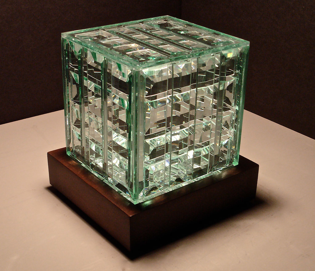 Robert Elan, Cubism II, glass and wood