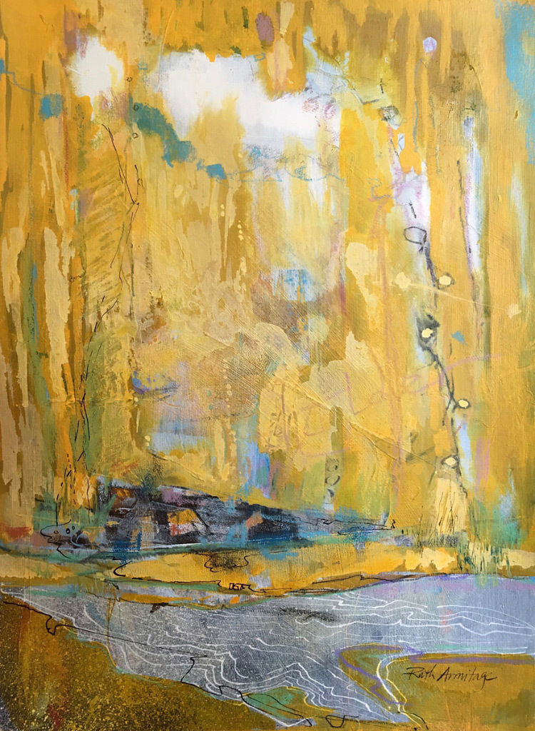 Ruth Armitage, Golden Shore, acrylic