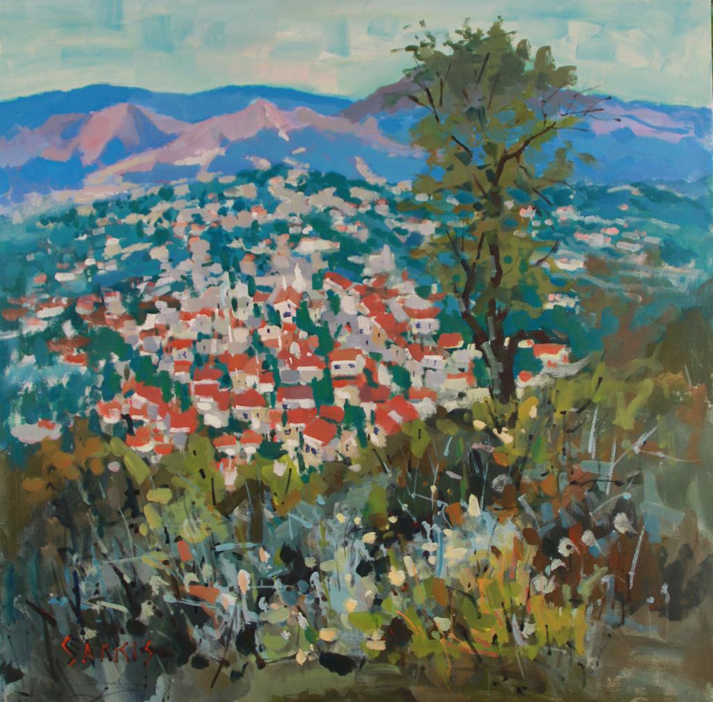 Sarkis Antikajian, Village No. 3, acrylic