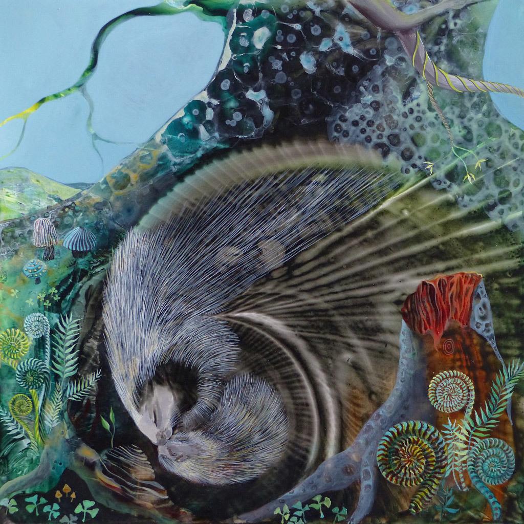 Susan Cowan, Porcupining, acrylic