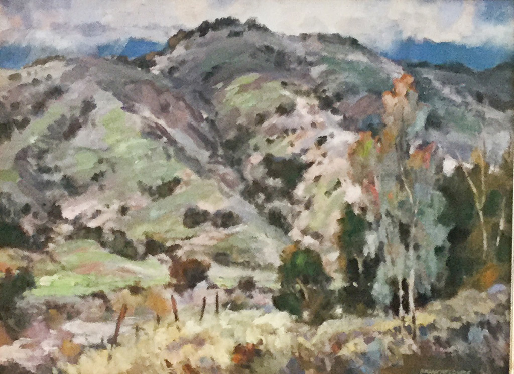 Yvonne Branchflower, Winter in San Timotea Canyon, oil