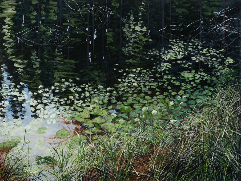 Angelita Surmon, Hebo Lake, acrylic on canvas
