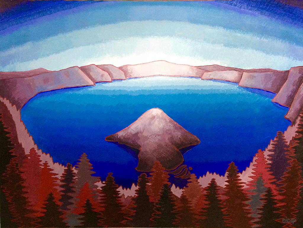 Christopher Bibby, Crater Lake, oil & wax