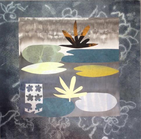 Elizabeth Brinton, Water Garden I, monotype